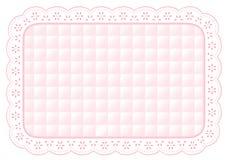 stuoia di posto imbottita del merletto dell'occhiello di colore rosa di bambino di +EPS Immagine Stock