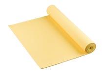 Stuoia gialla di yoga piacevole Fotografia Stock