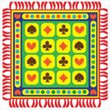 Stuoia multicolore del pavimento isolata su bianco Fotografia Stock