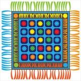 Stuoia multicolore del pavimento isolata su bianco Fotografie Stock