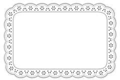 stuoia nera & bianca di +EPS dell'occhiello del merletto di posto Immagini Stock
