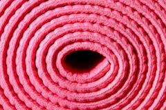 Stuoia rosa rotolata Fotografia Stock Libera da Diritti
