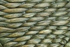 Stuoia tessuta delle piante tropicali. Fotografia Stock