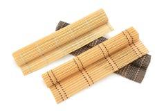 Stuoie del bambù della raccolta Fotografie Stock