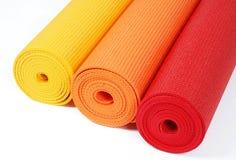Stuoie di yoga Fotografia Stock Libera da Diritti