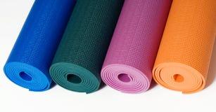 Stuoie di yoga Fotografie Stock