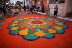 Stuoie e religione nel Messico immagini stock