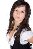 stupéfaction de brunette de l'adolescence image stock