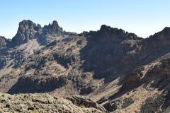 Stup av Mount Kenya Arkivfoton