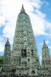 Stupa在寺庙phayao的,泰国菩提伽耶 免版税库存图片