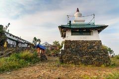 Stupa在山的Kachkanar美洲河鲱Tchup陵佛教徒修道院里 俄国 免版税库存图片