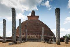 Stupa在斯里兰卡 库存图片