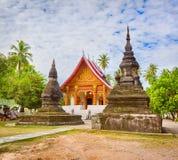 stupa美丽的景色在Wat Visounnarath 老挝 免版税库存照片