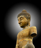 stupa背景的菩萨 免版税库存照片