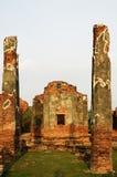 stupa菩萨和天空 库存照片