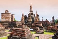 Stupa και παγόδα στο ναό Wat Mahathat, Ταϊλάνδη Στοκ Φωτογραφίες