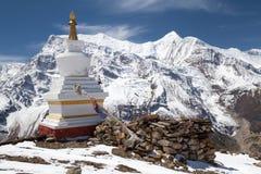Stupa σε Kicho Tal, κύκλωμα Annapurna, Manang, Νεπάλ Στοκ εικόνα με δικαίωμα ελεύθερης χρήσης