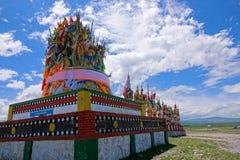 Stupa σημαιών Scripture στοκ φωτογραφίες με δικαίωμα ελεύθερης χρήσης