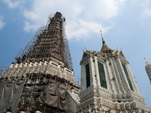 Stupa στο ναό Wat Arun στη Μπανγκόκ, Ταϊλάνδη Στοκ εικόνα με δικαίωμα ελεύθερης χρήσης
