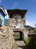 Stupa στο χωριό Ghyaru Στοκ εικόνα με δικαίωμα ελεύθερης χρήσης