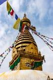 Stupa виска Swayambunath, Катманду, Непала стоковая фотография