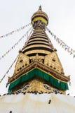 Stupa виска Swayambunath, Катманду, Непала стоковые фото