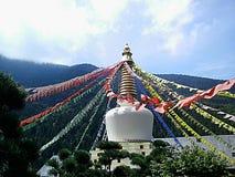 Stupa в кармах Ling, Arvillard, Франции Стоковые Изображения RF