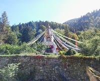Stupa в кармах Ling, Arvillard, Франции Стоковые Изображения