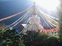 Stupa в кармах Ling, Arvillard, Франции Стоковая Фотография