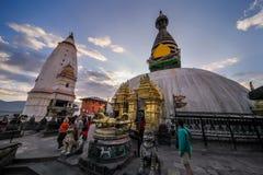 Stupa Катманду Swayambhunath Стоковое фото RF