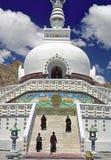 stupa мира leh ladakh стоковая фотография