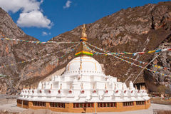 Stupa. Built on the mountain in the huge solemn stupa Royalty Free Stock Photography