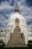 Stupa. Building with cloudy sky Royalty Free Stock Images