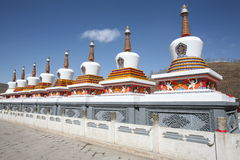 Stupa. S of Taer temple, shot in Qinghai of China Stock Images