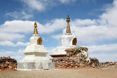 Stupa. Two stupas, shot in Tibet of China Stock Image