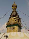 Stupa. Swayambhunath -Budhist Stupa in the Kathmandu, Nepal royalty free stock image