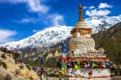 Stupa. Symbol landscapes adventure buildings concept stock photo
