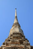 Stupa. The white stupa isolate with sky background royalty free stock photo