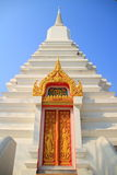 Stupa. The old white stupa isolate with sky background royalty free stock photos