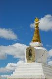 Stupa. White stupa in tibet,china Stock Photography