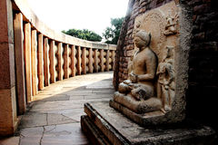 Stupa,桑吉内在段落  库存图片