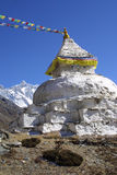 Stupa and 8000er Lothse, Nepal Stock Images