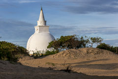 The stupa adjoining Mudu Maha Vihara near Pottuvil on the east coast of Sri Lanka. Stock Photography
