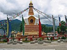 Stupa al tempio di Swayambhunath, Kathmandu, Nepal Fotografie Stock Libere da Diritti
