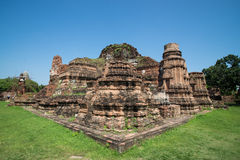 Stupa. Ancient stupa in ayuthaya thailand Royalty Free Stock Photography