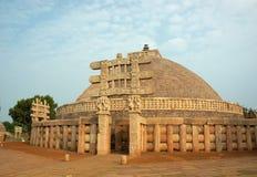 Stupa antiguo en Sanchi, la India Imagen de archivo libre de regalías