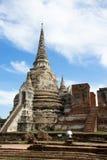 Stupa antique à Ayutthaya Image libre de droits