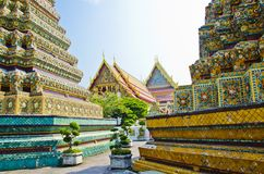 Stupa Area in Wat Pho Royalty Free Stock Photography