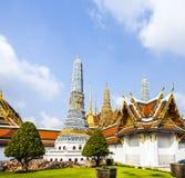 Stupa au temple de Wat Phra Kaew Images libres de droits