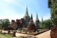 Stupa au wat Phar Srisanphet, Thaïlande Image stock